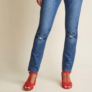 NWT 🏷 Pepaloves Straight Leg Cat Face Jeans